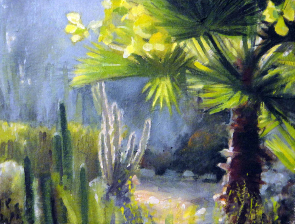 Oil on Canvas -Sunlit Palms